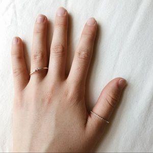 Rose gold ring set (2) with (fake) 💎